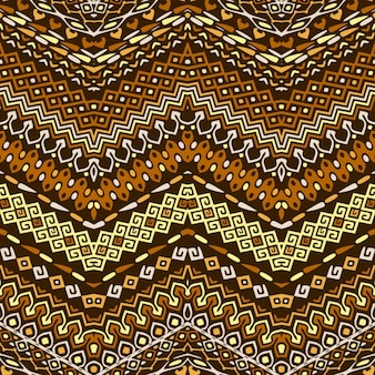 Pattern with ethnic ornaments
