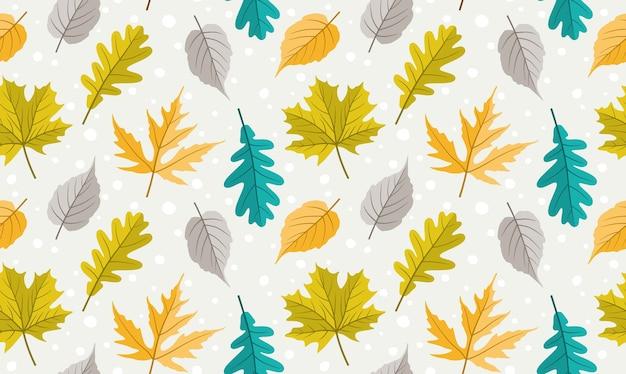 秋のカエデの葉のパターン。