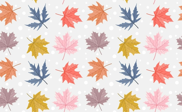 Pattern with fall maple leaves.