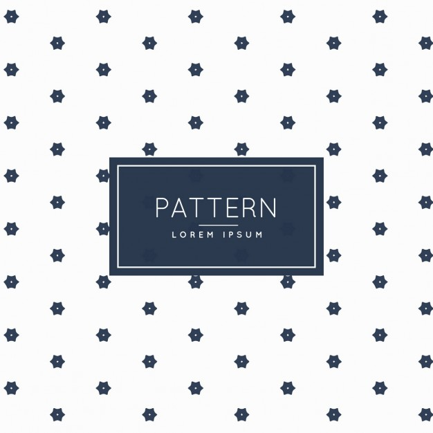 Pattern with floral geometric shapes