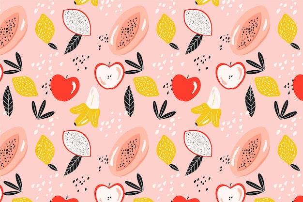 Pattern with fruits