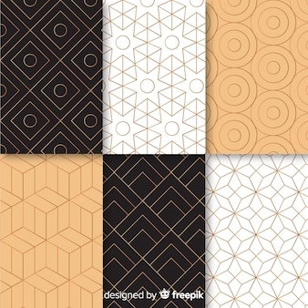 Pattern with gemotric luxury collection