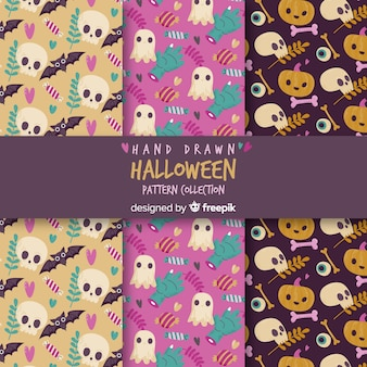 Pattern with halloween elements