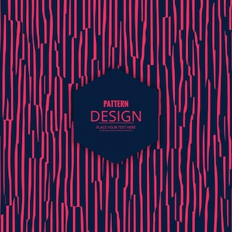 Pattern with hand drawn pink stripes in modern style