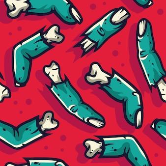 할로윈에 대 한 끔찍한 좀비 손가락 패턴