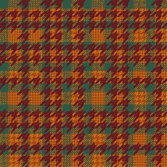 Pattern with houndstooth in warm tones