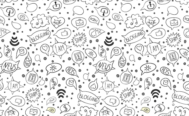 Pattern with internet elements