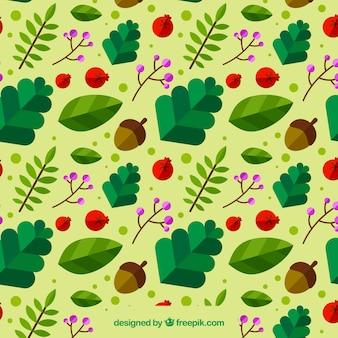 잎과가 과일 패턴