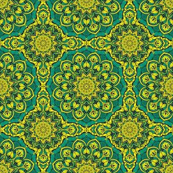 Шаблон с украшением мандалы. для ткани, текстиля, банданы, коврового рисунка