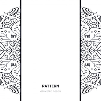 Pattern with mandala