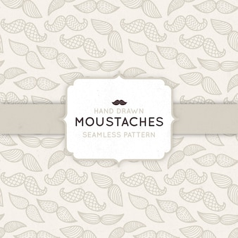 Pattern with mustaches for movember
