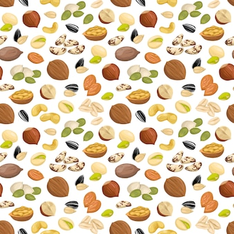 Pattern with nuts.