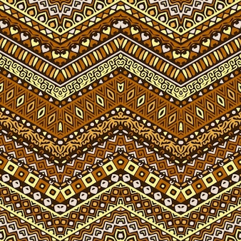 Pattern with ornaments in warm tones