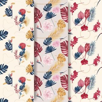 パンパの花の水彩画のパターン