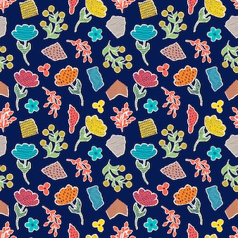 Pattern with paper flowers