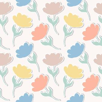 Узор с бумажными тюльпанами