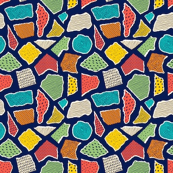 Pattern with pieceis of paper