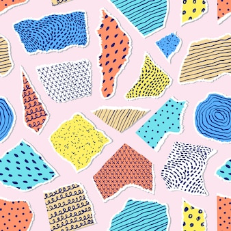 Pattern with pieces of paper