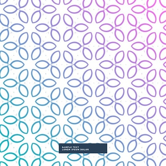 Pattern with purple and blue leaves