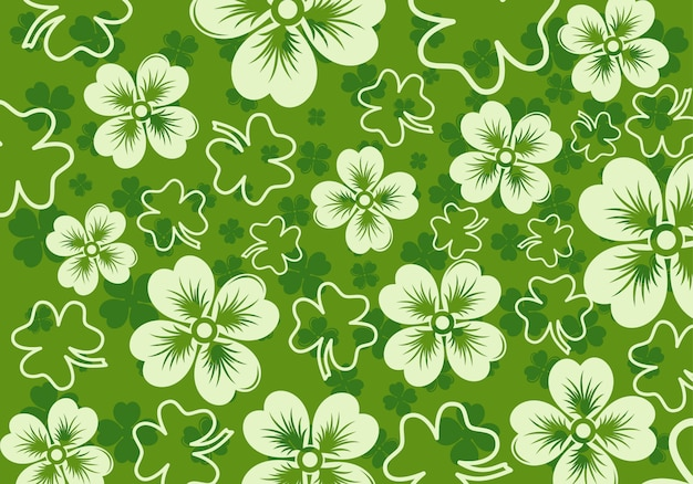 Pattern with shamrock