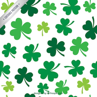 Pattern with shamrocks