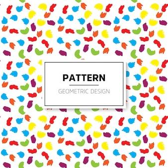 작은 화려한 브러쉬 패턴