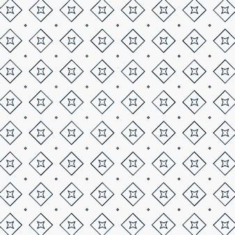 正方形と星のパターン