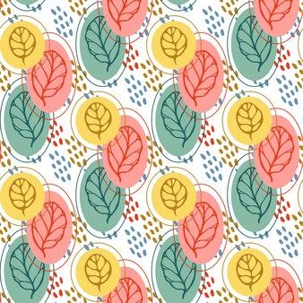 양식에 일치시키는 잎 패턴. 가 잎 원활한 배경입니다. 벡터