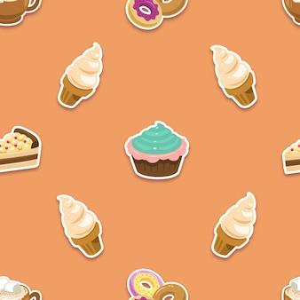 달콤한 음식 패턴