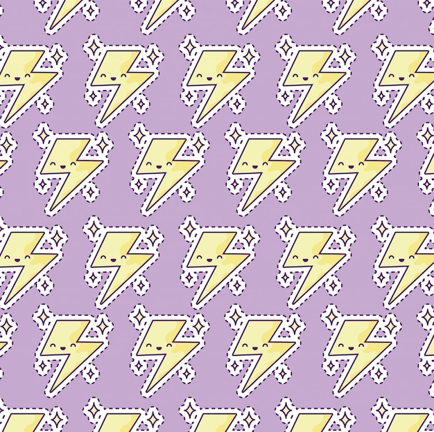 Pattern with thunder
