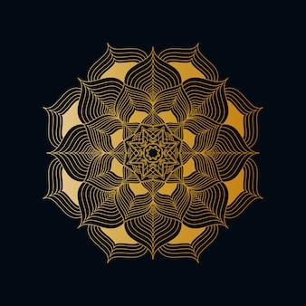 Креативный роскошный мандала фон с золотой креативный арабески pattern арабский исламский восток