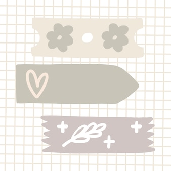 Patterned sticky tape