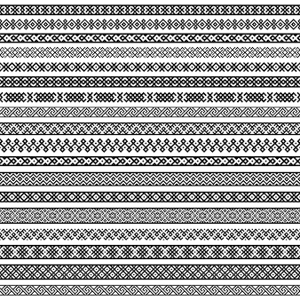 Patterns in black and white colors