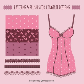Patterns and brushes for lingerie designs