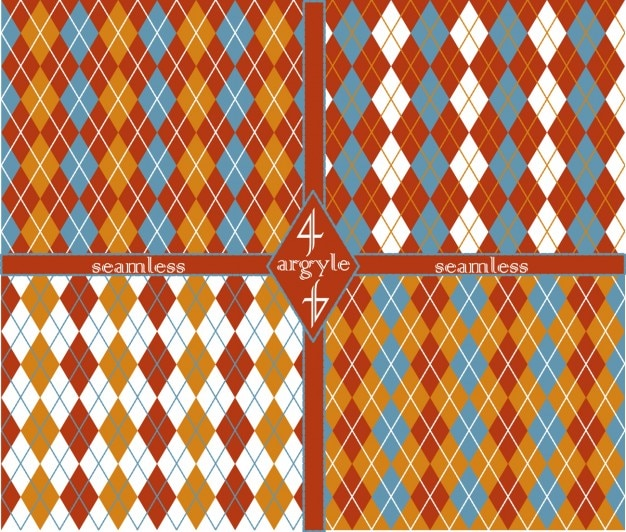 Patterns collection with argyle