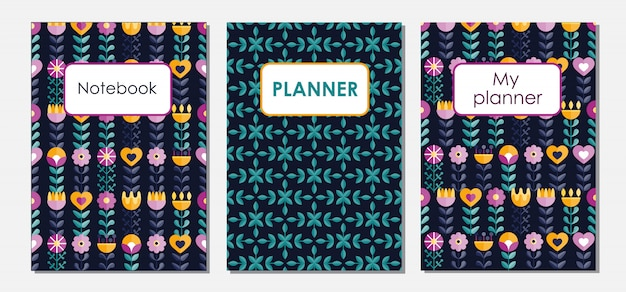 Patterns of covers for a notebook
