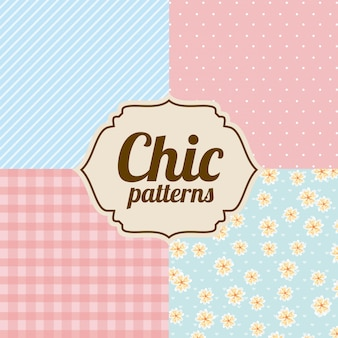 Patterns design over chic backgrounds vector illustration