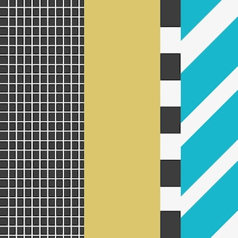 Patterns of memphis style concept