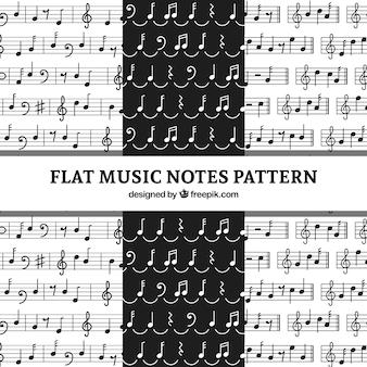 흑백 음표의 패턴