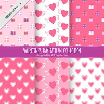 心とバレンタインの贈り物のパターン