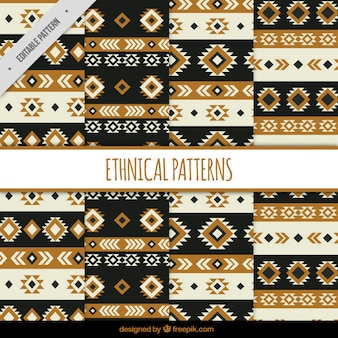Patterns with ethnic shapes