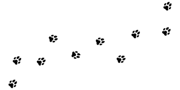 Paw print road background. vector eps10