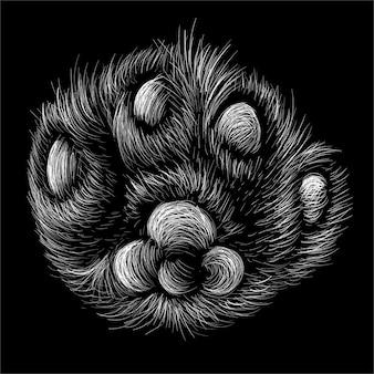 The paw, t-shirt design.
