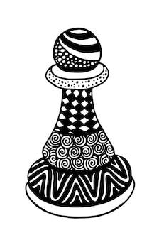 Pawn chess piece vector illustration art
