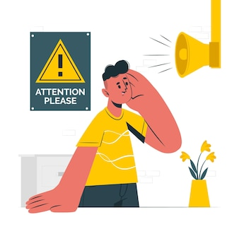 Pay attentionconcept illustration