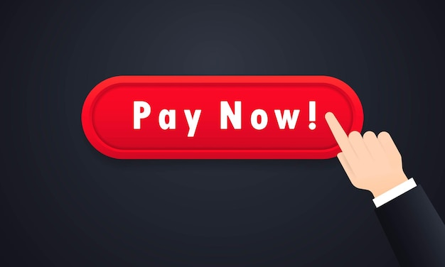 Pay now button or buy online concept and ecommerce