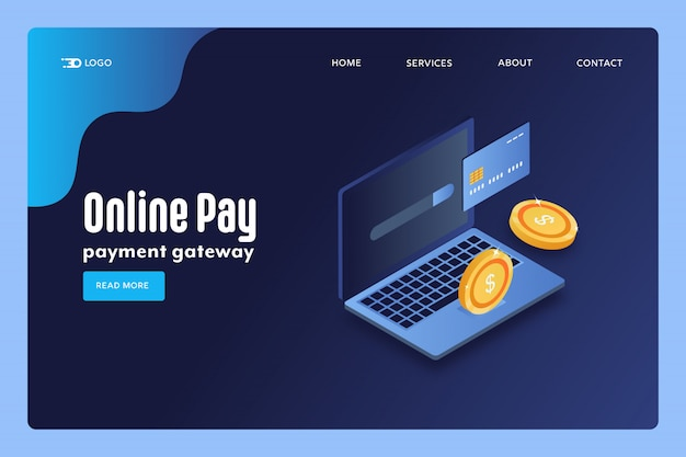 Pay online conceptual banner