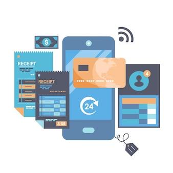 Плата за клик и иллюстрация онлайн-заказа