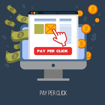 Pay per click mobile advertising concept