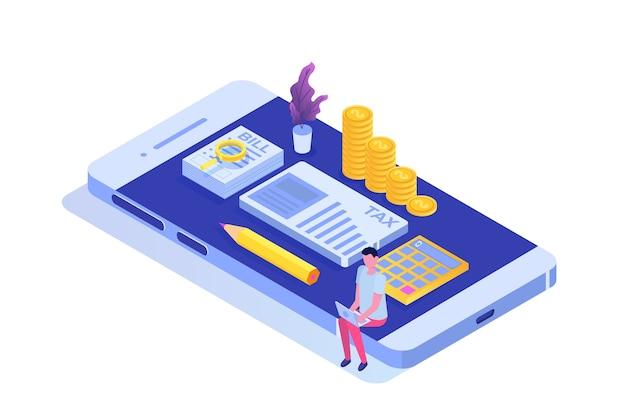 オンライン税金等尺性概念を支払う